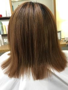 チリチリになってしまった髪が復活!