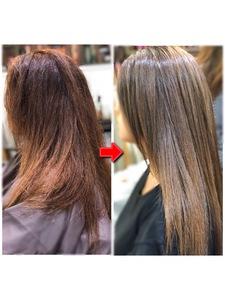 つむじ割れ、加齢によるクセ毛を改善